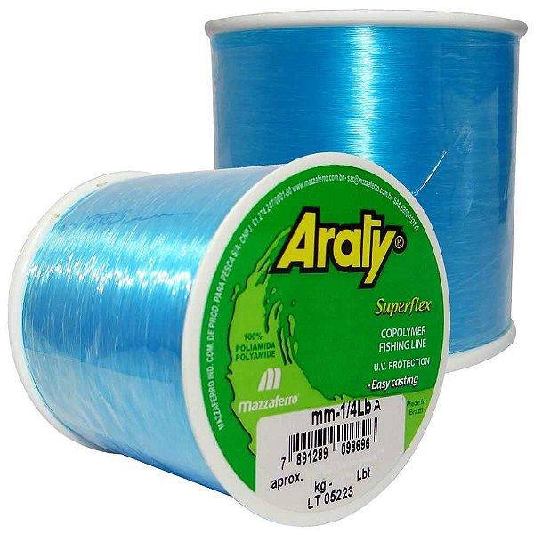Linha Araty Superflex 1/4lb Azul 0,35mm 930m