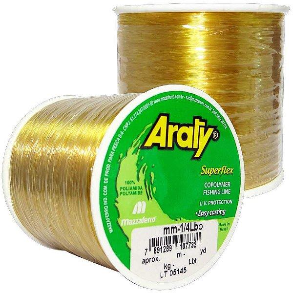 Linha Araty Superflex 1/4lb Ouro 0,30mm 1240m
