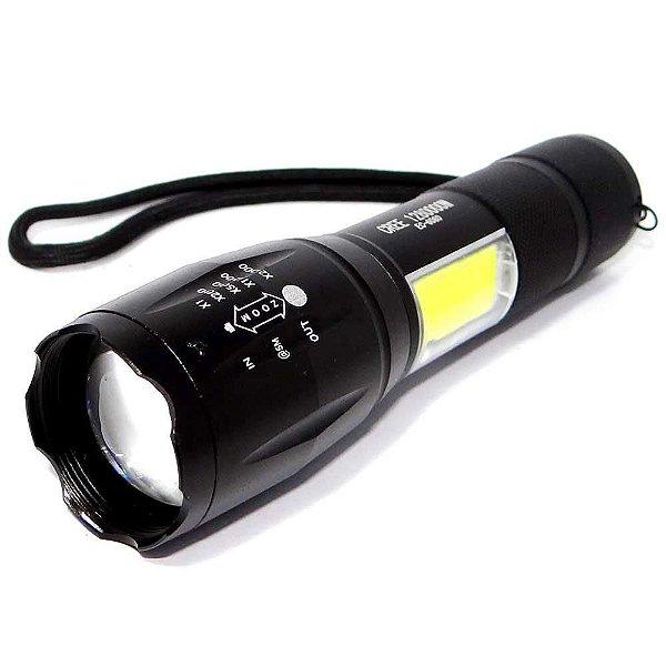 Lanterna de Led T6 Ecooda Ec-6080 Zoom e Luminária + bateria sobressalente