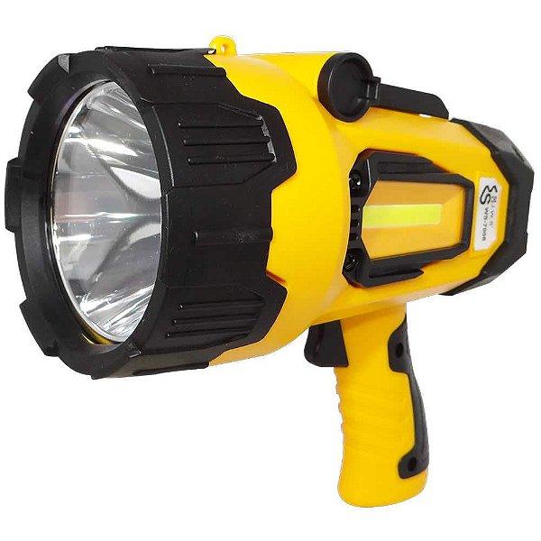 Lanterna Refletor JWS 7006 T6 Alta Potência recarregável USB