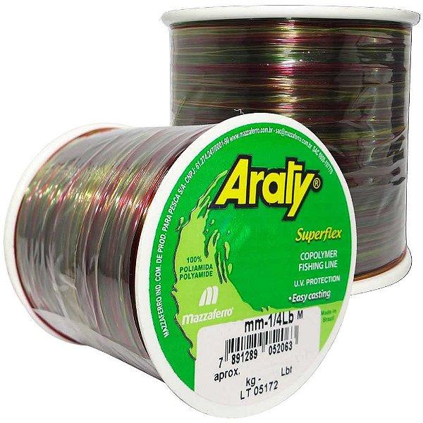 Linha Araty Superflex 1/4lb Multicolor 0,60mm 330m