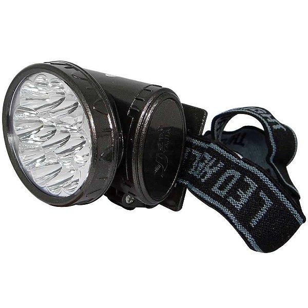 Lanterna De Cabeça 13 Led Recarregável Yj-1898 Pesca Bike