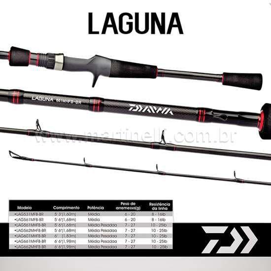 Vara Daiwa Laguna LAG 562 MHFB-BR - 10-25lbs - 5'6 - (carretilha) - (duas partes)