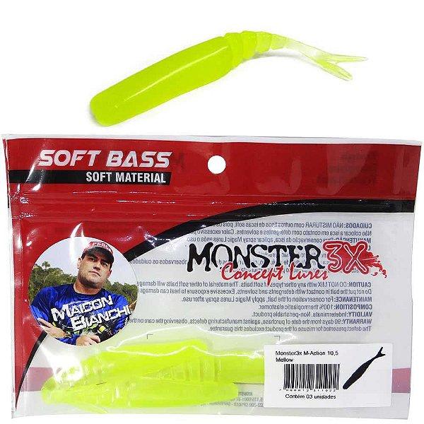 Isca Monster 3X M-action 10 5cm Mellow 3 un.