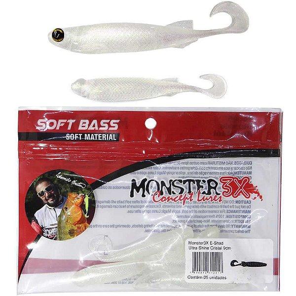 Isca Soft Monster 3x E-shad 12cm Manjuba c/ 5 un.