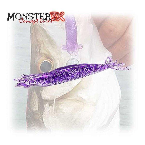 Isca Camarão Monster 3X X-Solid 8cm Purple 005 c/ 5 un.