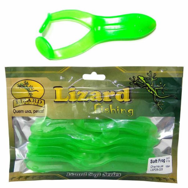 Isca Soft Frog 9cm 9,5gr 009/chartreuse 10 Unid Lsf09-009