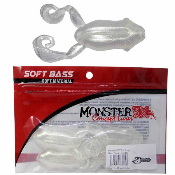 Isca Tail Frog Monster M3x New Shine Cristal 4 un.