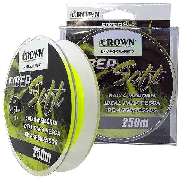 Linha Crown Fiber Soft Yellow 0,37mm 250m