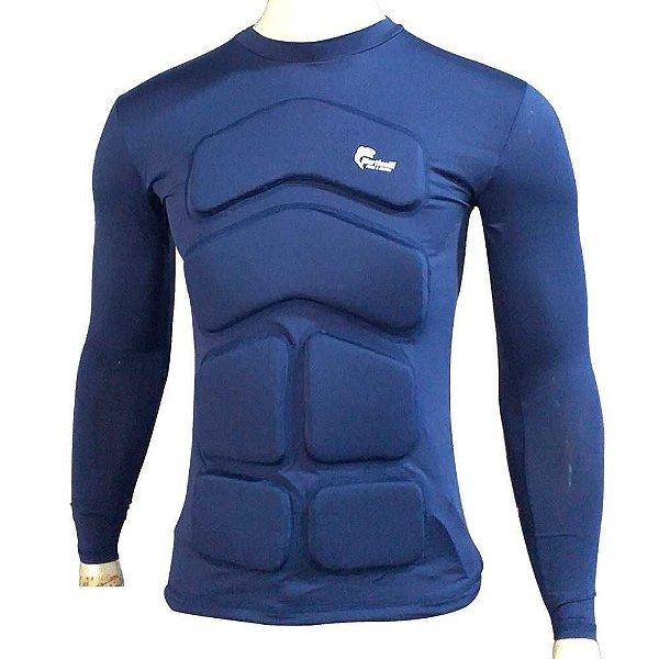 Camisa Flutuadora/Flutuante Mar e Cia - Manga longa - 50kg cor: azul marinho