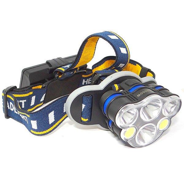 Lanterna de Cabeça HeadLamp 2007 com 6 Leds
