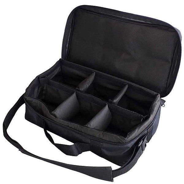 Bolsa Porta Carretilhas Ou Molinetes 6 Espacos 0046 Preta