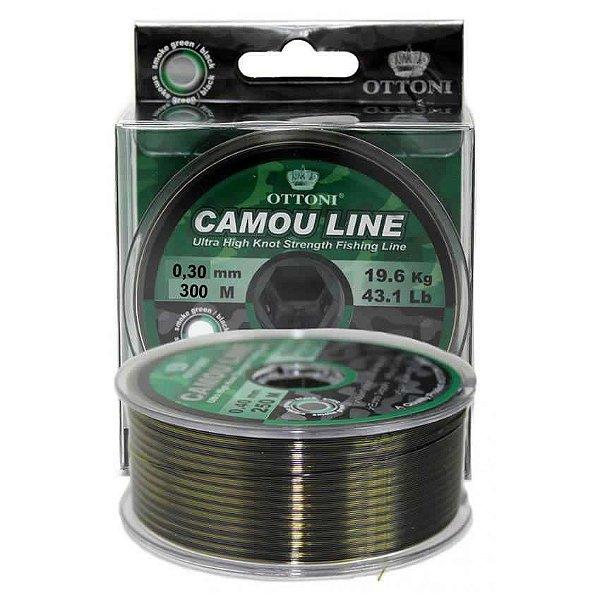 Linha Monofilamento Camou Line 0,35mm 300m