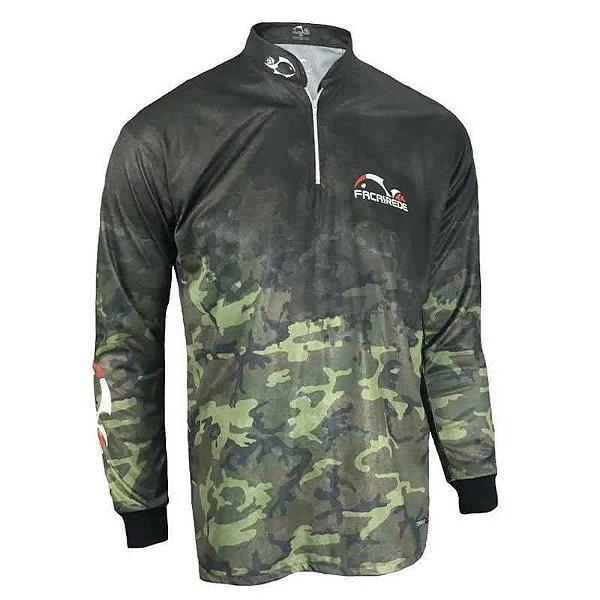 Camiseta de Pesca Faca na Rede Cs 20 Camuflado G 215