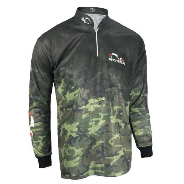 Camiseta de Pesca Faca na Rede Cs 20 Camuflado GG 215