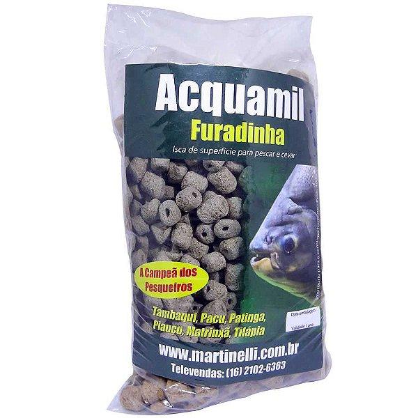 Ração Acquamil Furadinha Natural 400g