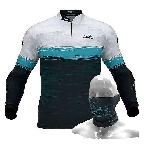 Camiseta de Pesca Presa Viva PV 06 - M + Breeze Buff Presa Viva PV 06