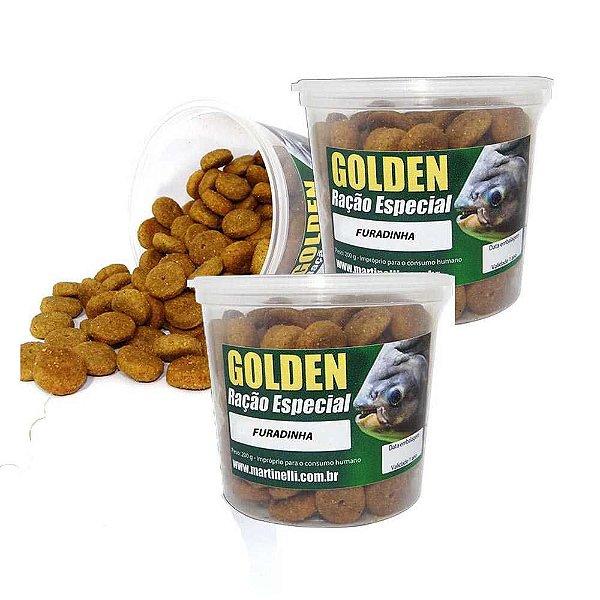 Kit 2 Ração p/ pesqueiro Furadinha Golden Natural 200g cada
