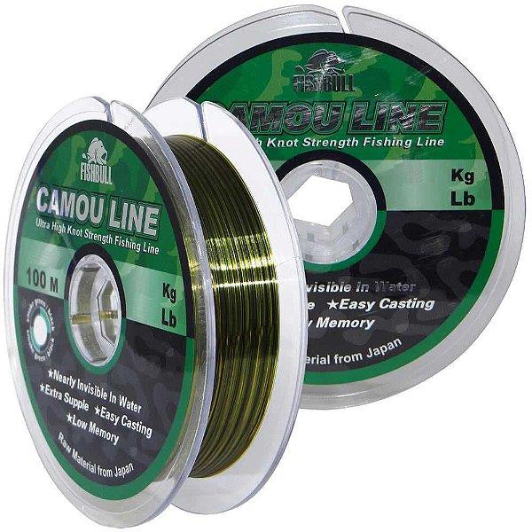 Linha Monofilamento Camou Line 0,45mm 100m