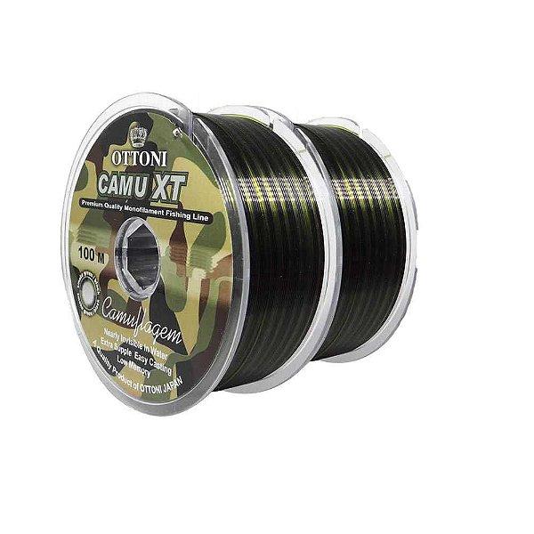 200m Linha Monofilamento Camu XT 0,30mm - 26,8 lbs contínuos