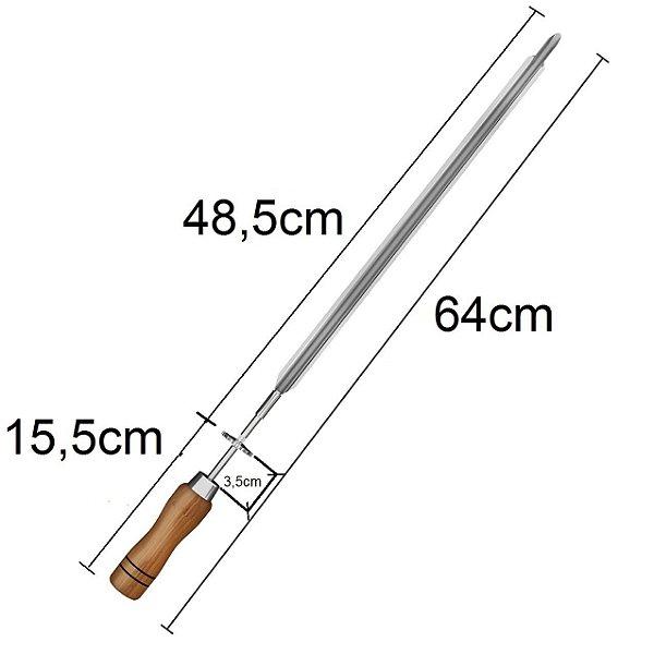 Espeto Espada para Churrasqueira 64 cm