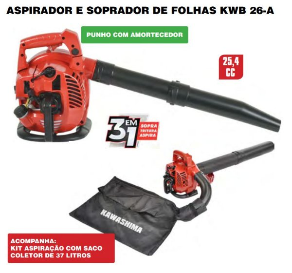 Soprador manualkwb26a 26cc