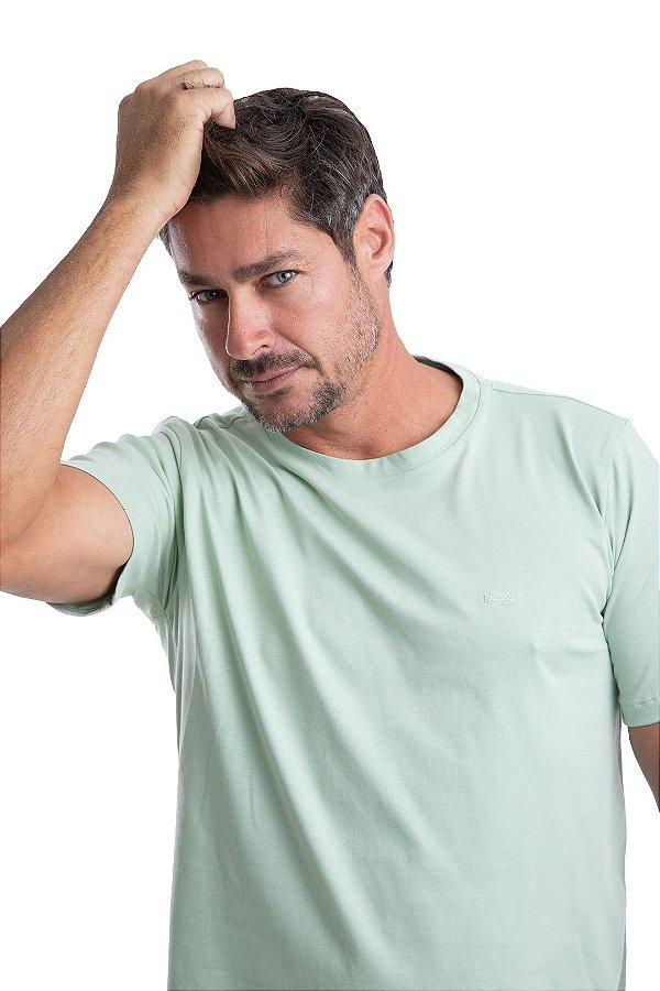 Gola careca Meia malha lisa – 100% algodão – Fio Pima  (cor verde cana)