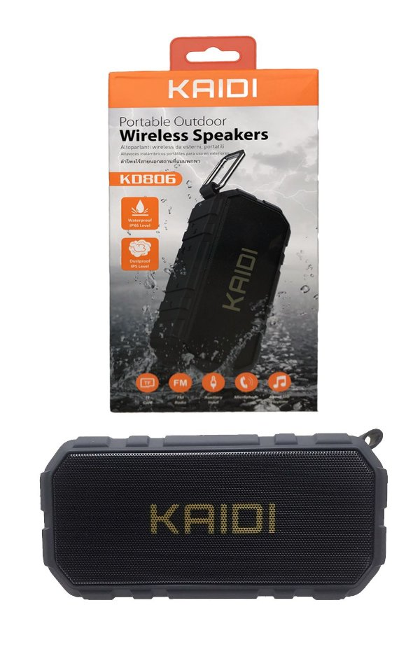 Caixa de Som Kaidi Bluetooth KD806 à prova d'água IPX6