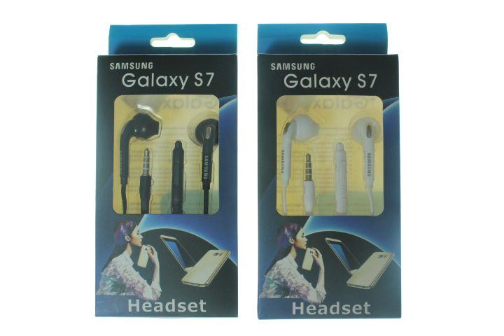 Fone de Ouvido para Celular Samsung Galaxy S7 Entrada P2 cor Branca ou Preta na Caixinha
