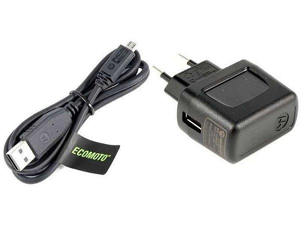Carregador Motorola 1ª Linha V8-Micro USB
