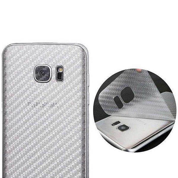 83abbcee0 Adesivo Protetor Traseiro Skin Fibra de Carbono Transparente para Linha  SAMSUNG