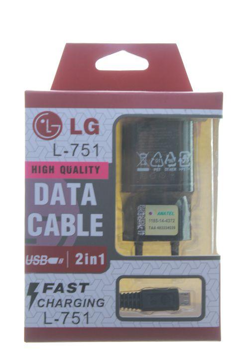 Carregador Com Cabo USb-V8 1ª Linha LG na Caixa