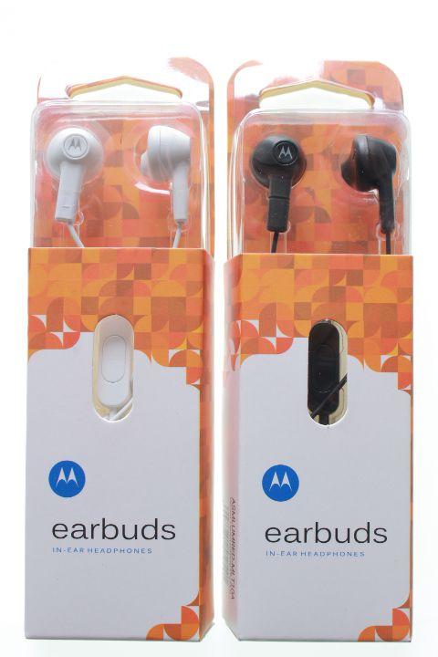 Fone de Ouvido Motorola EarBuds Branco ou Preto na Embalagem