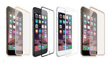 Película de Vidro Temperado iPhone 8 Borda Metálica Cores Sortidas