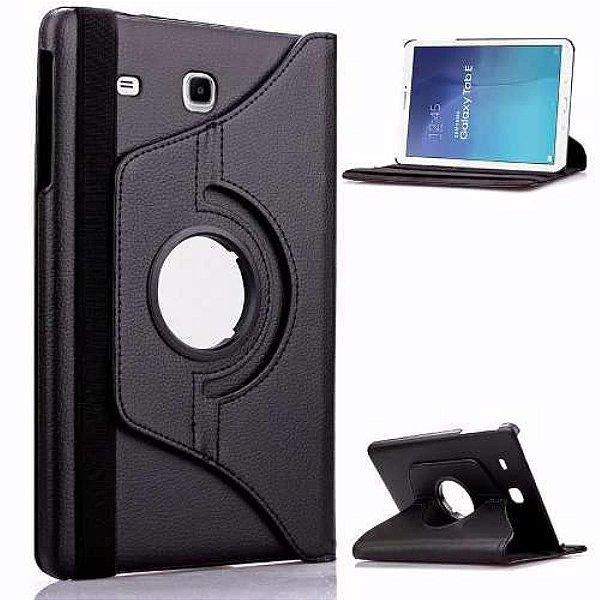 Capa Couro Sintético Estilo Pasta Giratória Cor Preta para Tablet Samsung Galaxy Tab A T285-T280