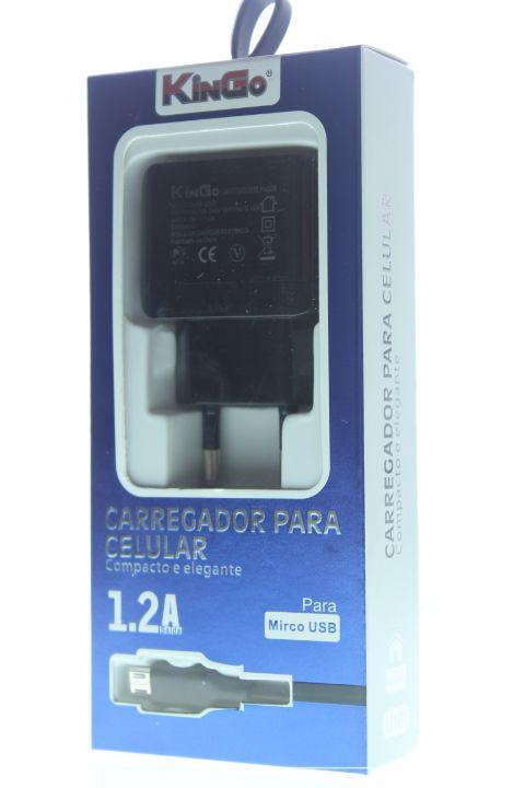 Carregador de Celular KinGo Micro USB-V8 de 1.2A