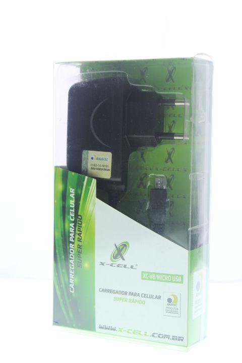 Carregador X-Cell V8-Micro USB no Blister