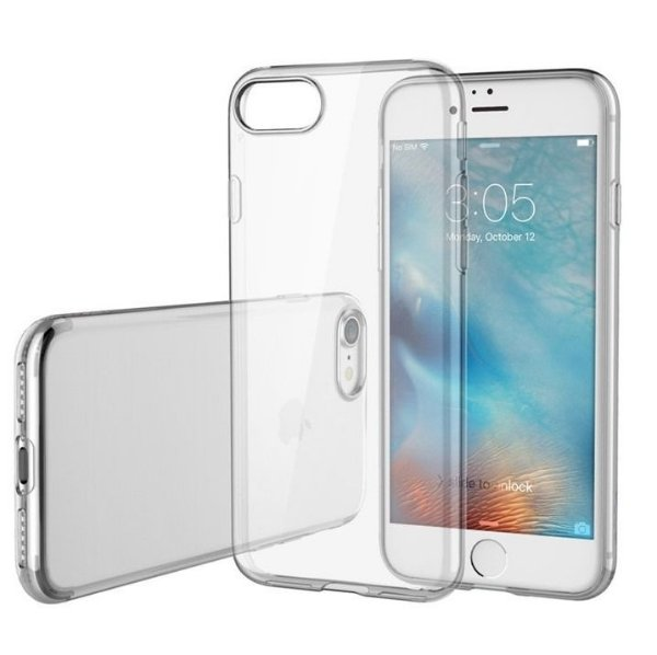 Capinha de Celular iPhone 8 TPU Silicone Transparente