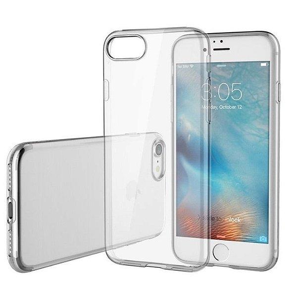 Capinha de Celular iPhone 8 Plus TPU Silicone Transparente