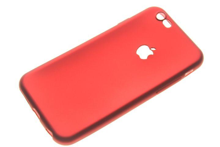 Capinha de Celular iPhone 6-6S Silicone Vermelha