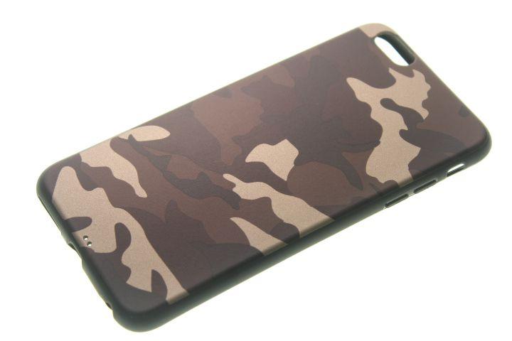 Capinha de Celular iPhone 6 Plus Silicone Camuflada