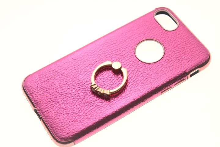 Capinha de Celular iPhone 7 Pink Anel Pop Socket