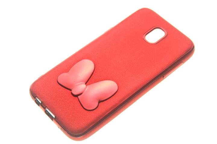 Capinha de Celular Samsung Galaxy J5 Pro Vermelha Lacinho