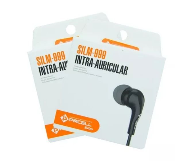 Fone de Ouvido Intra-Auricular PMCELL FO-11 Slim