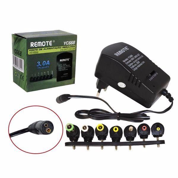 Fonte Alimentação Regulada Universal 3A Remote Yc668 Receptores