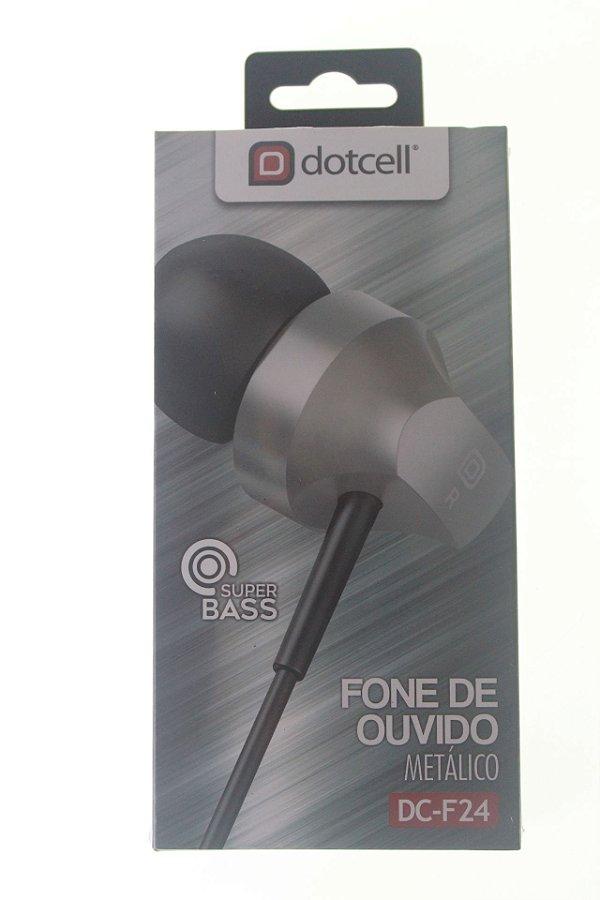 Fone P2 Dotcell DC-F24 Prata (Metalizado)