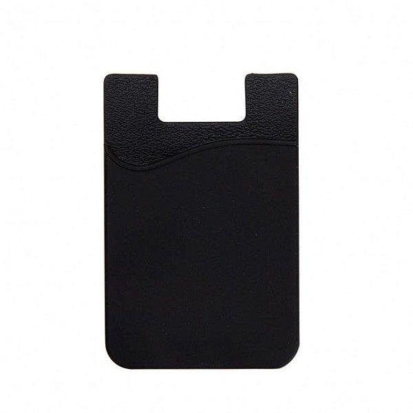 Porta Cartão para celular Preto no Atacado