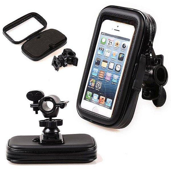 Suporte para Celular à Prova D'Água Suporte GPS Moto e Bike 6.3