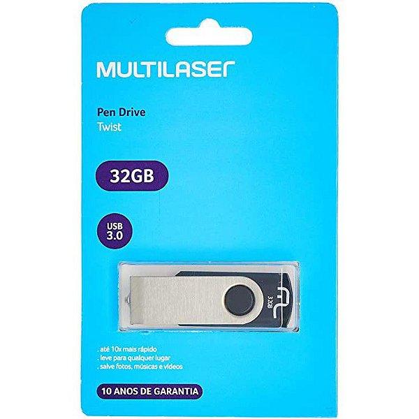 Pen Drive Multilaser Usb 2.0 Modelo Twist 32GB