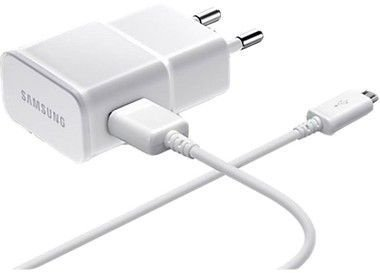Carregador para Celular 1ª Linha Samsung na Cor Branco ou Preto